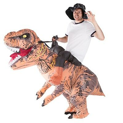 Inflatable Premium Dinosaur Costume Adult Fancy Dress Hen Stag Night Outfit