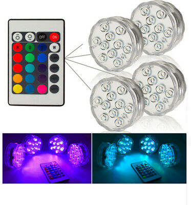RGB Submersible 10leds Battery Operated IP67 Lamp light Swimming Pool  Wedding
