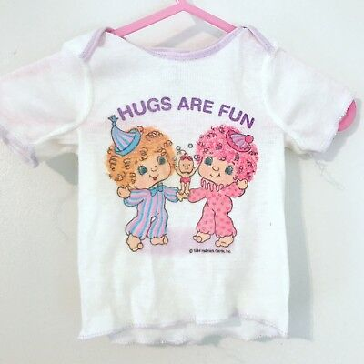 Vintage Hugga Bunch Baby Shirt! Sz 14-18 Lbs Small Hugs Are Fun