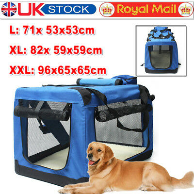 L XL XXL Foldable Pet Carrier Soft Crate Cage Dog Cat Travel Bag Kennel Portable