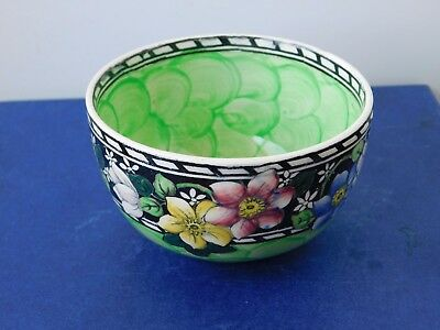 Maling  Spring Flowers Lustre Pin Bowl  Hand Painted  Mint. C 1934 Signed..rare