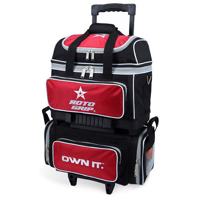 Roto Grip BLACK/RED 4 Ball Roller Bowling Bag New for 17/18 season