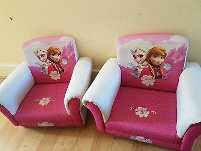 2 Frozen Sofa Arm Chairs (RRP £62 EACH)