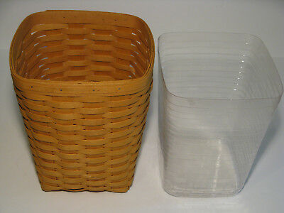 Retired LONGABERGER Small Waste Basket Plastic LINER Insert Protector 1999