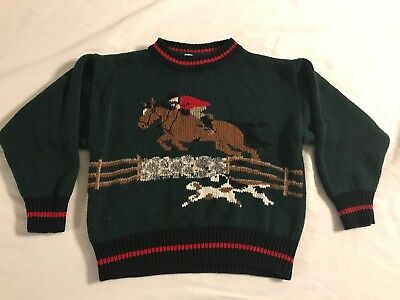 kitestrings Childs Equestrian Fox Hunt Sweater 5/6