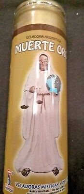 Holy Death (Santa Muerte Oro) Prepared Gold Color  7 Day Candle