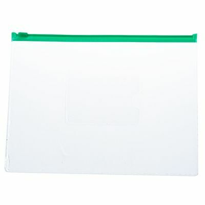 SS 20 Pcs Green Clear Size A5 Paper Slider Ziplock Closure Files Bags