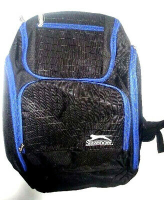 551775f86c6 New Slazenger Travel Backpack 7 Pockets Black Rucksack Sport School Laptop  Bag