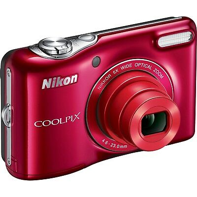 Nikon Coolpix L32 20.1 MP Digital Camera - Red