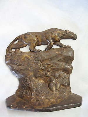 Vintage 1930 Crouching Tiger Bookend