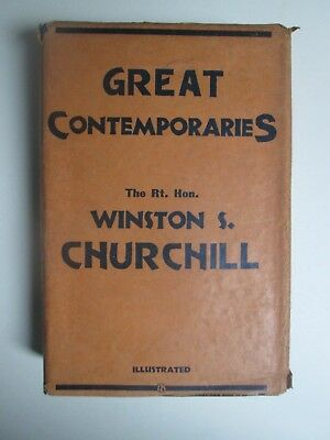Winston S Churchill Great Contemporaries First Edition 1937