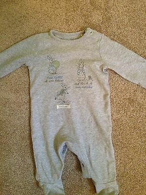 Peter Rabbit 0-3 Months Sleepsuit With Matching Hat