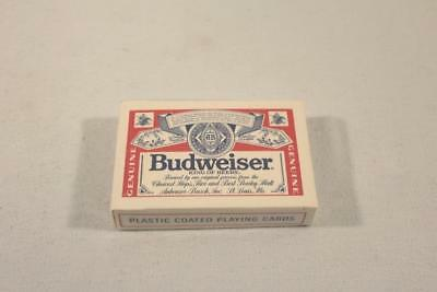 New MIB Budweiser King of Beers Advertising Plastic Coated Playing Cards-BL