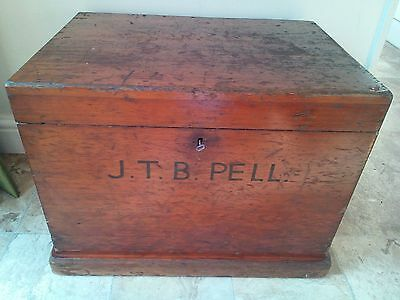 Antique Late Victorian Chest With Carry Handles