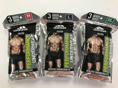 Adidas Performance Underwear Boxer Brief Climalite 3-Pack M,L,XL Blue Color New