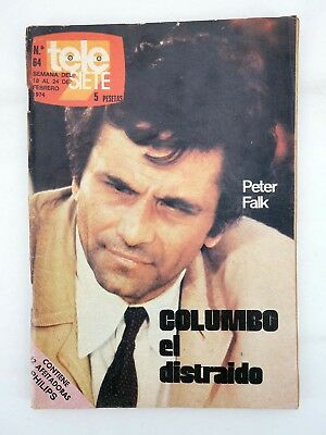 Revista Tele Siete 64. 18 A 24 Febrero. Peter Falk Columbo El Distraido. Program