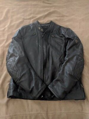 "Triumph ""Ace Cafe"" Leather Motorcycle Jacket - Size M - Black - Free Shipping"