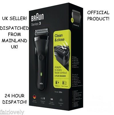 BRAND NEW AND SEALED! BRAUN Series 3 300s Electric Black Rechargeable Shaver