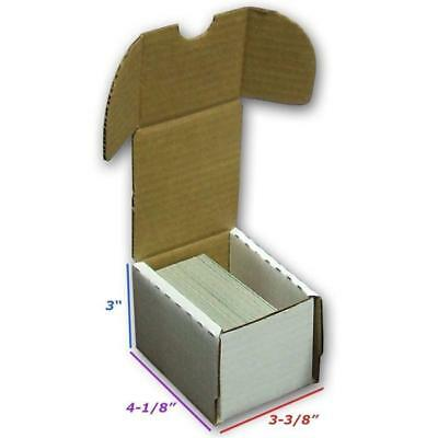 5x BCW 100 COUNT CT Corrugated Cardboard Storage Box - Sports/Trading/Game Cards