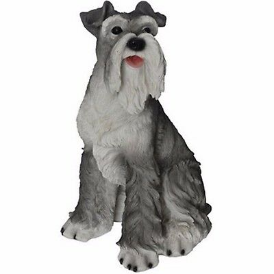 NEW Schnauzer Dog Figurine - LARGE Life Like Figurine Statue Home / Garden