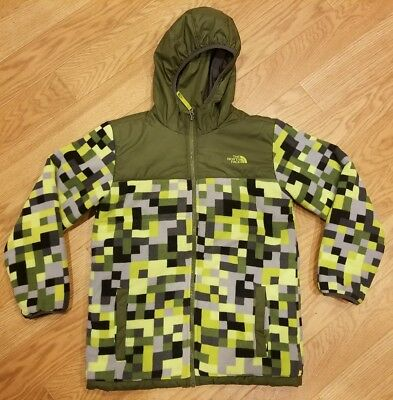 Boy's THE NORTH FACE  Reversible Hooded Jacket/Coat Size Large 14/16 Green