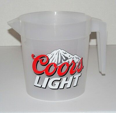 "Coors Light Beer Rocky Mountains Graphics/Logo 48-Ounce Plastic Pitcher 6"" Tall"