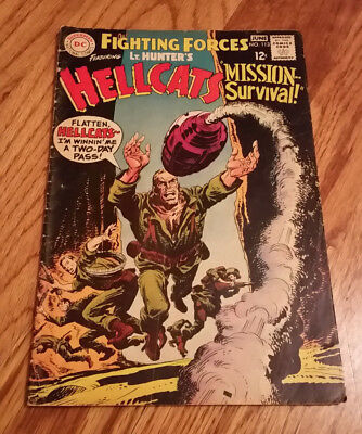 OUR FIGHTING FORCES #113, Lt. Hunter's Hellcats, DC Comics 1968
