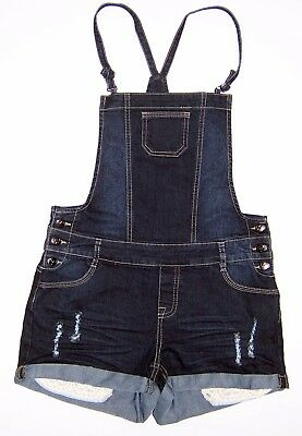 Tilii Denim Overalls Shorts Blue Distressed Girls Size 12 As New Condition