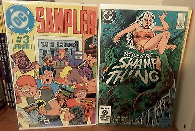 1st appearance Constantine Hellblazer Saga of the Swamp Thing 25 & DC Sampler 3