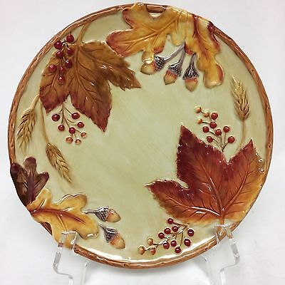 """Fitz And Floyd """"harvest"""" Plate New In Box"""