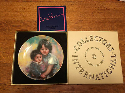 "Royal Doulton Collector Plate ""My Little Brother"" Lisette De Winne 1983 (303)"