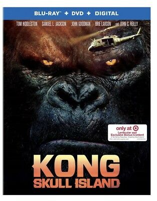 Kong: Skull Island w/ Lenticular Packaging(Blu-ray+DVD+Digital) Target Exclusive