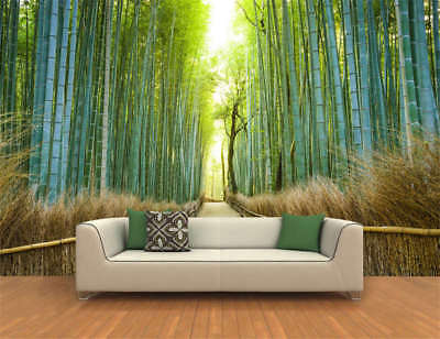 Sunny Bamboo Forest Full Wall Mural Photo Wallpaper Printing 3D Decor Kids Home