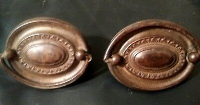 Lot of 2 Duncan Phyfe Drawer Pulls Handles Antique Hardware