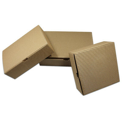 Brown Corrugated Kraft Paper Boxes Food Gift Packaging Box Reusable Eco-friendly