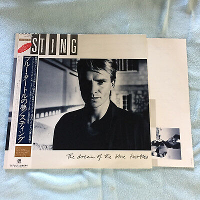 "Sting ""the Dream Of The Blue Turtles"" Lp Japan Press Obi"