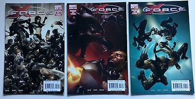 X-Force #2 3 4  Lot of 3 Divided We Stand, Marvel 2008