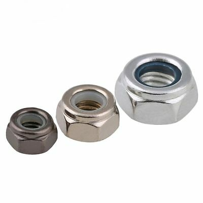Carbon Steel Nylon Insert Lock Nut Nylock Hex Nuts Finish Nickel Or Zinc Plated