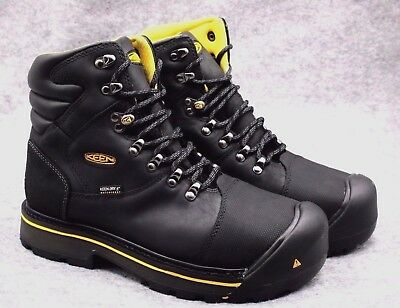 "KEEN Utility Men's Milwaukee 6"" Steel Toe Safety Work Boot Black  NEW shoes"