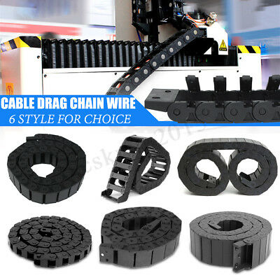 100cm Black Long Nylon Cable Drag Chain Wire Protect Carrier CNC R18 / R28 / R38