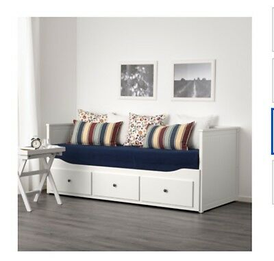 ikea hemnes tagesbett ausziehbares bett sofa shabby landhaus impressionen eur 130 00. Black Bedroom Furniture Sets. Home Design Ideas