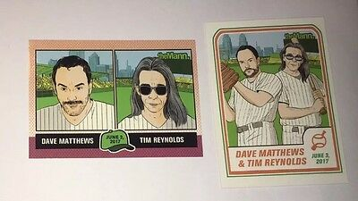 Dave Matthews & Tim Reynolds Baseball Cards The Mann Center 6/2 & 6/3 poster