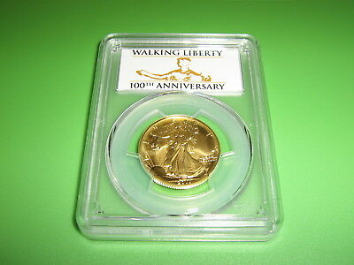 2016-W US Walking Liberty Half Dollar Centennial Gold Coin PCGS SP70 FS (w OGP)