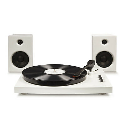 Crosley T100 Stereo Turntable with Speakers & Bluetooth - White
