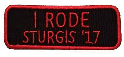 "Sturgis 2017 Patch I Rode ""17 Red Black Partner Rider Motorcycle South Dakota"