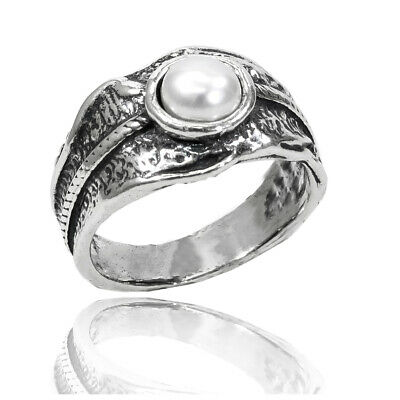 New Shablool 925 Sterling Silver White Natural Freshwater Pearl Three-stone Ring High Quality Fine Rings
