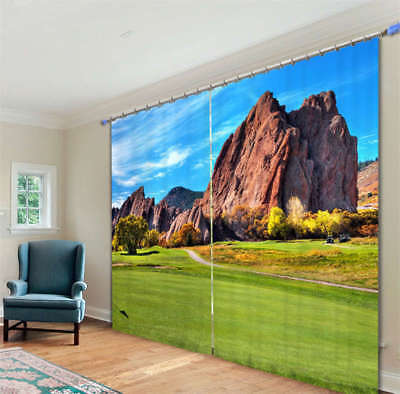 The Natural Lawn 3D Blockout Photo Curtain Print Curtains Fabric Kids Window