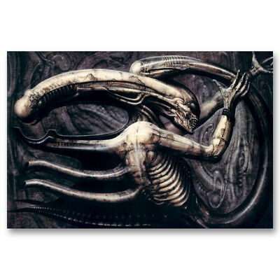 Alien Hr Giger Death Artwork Abstract Canvas Poster Art