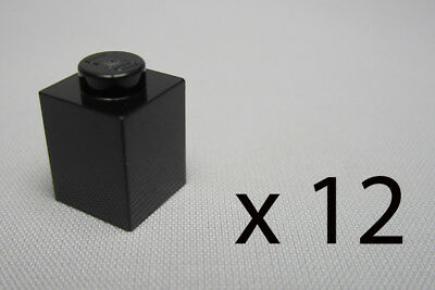 A10087. 12, Lego 1 x 1 Bricks - Black