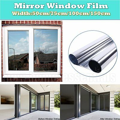 One Way Mirror Silver Solar Reflective Window Film Paper Insulation Stickers